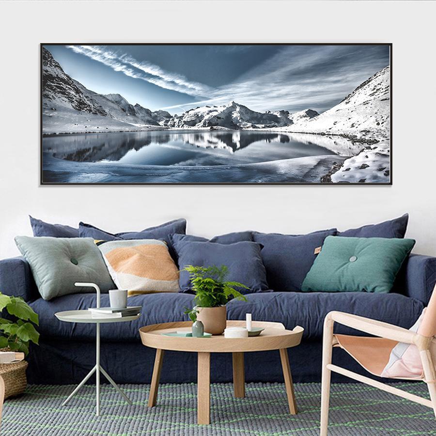 Satın Al Kış Manzara Duvar Sanatı Tuval Boyama Doğa Posterler Ve