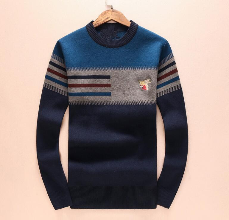 9ac534508 Chammp informal Marca Carta Bordado Prendas de punto Invierno Ropa para  hombre Cuello redondo Suéter de manga larga para hombre Diseñador de moda  ...