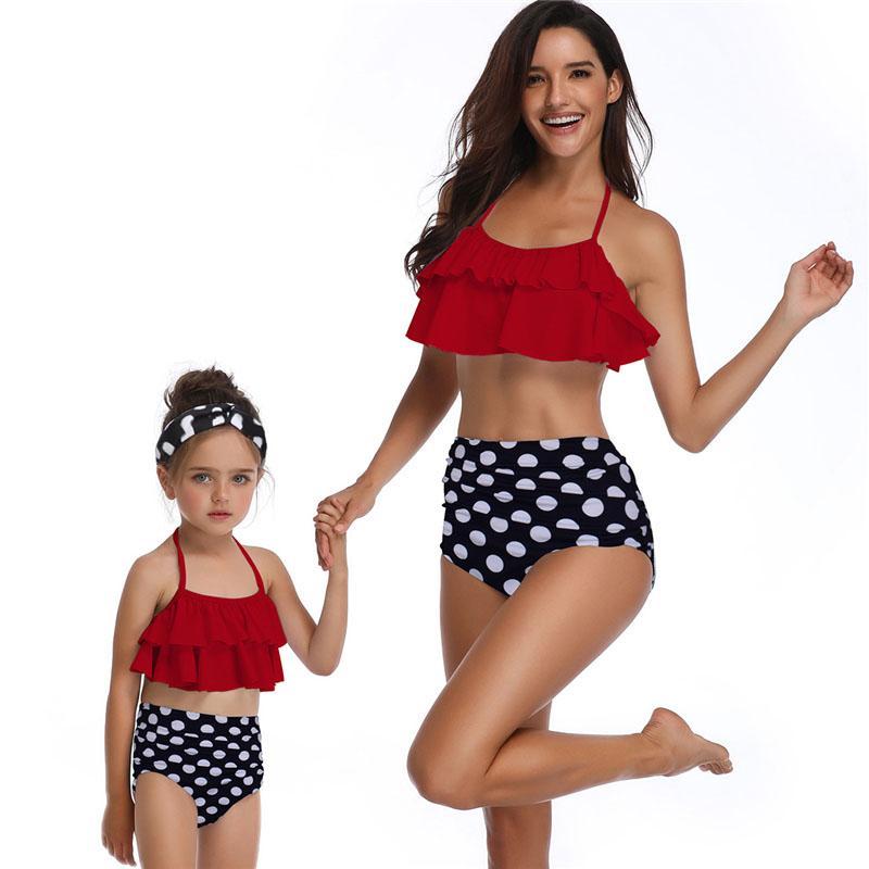 05b940f373 2019 Swimwear Women 2019 Hot Sale Brand New Bikini Swimsuit Bathing Suit  Mujer Swimming Wear Flower Print Sexy Bikini Family Macthing From  Dragonfruit, ...
