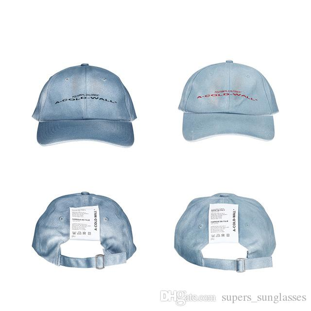 0fb3b112d0d 2019 Ss Latest Japan F W Hip Hop Autumn Winter ACW A COLD WALL Letter  Embroidery Knitted Hat Kanye West Men Women Baseball Cap Lids Cap From .