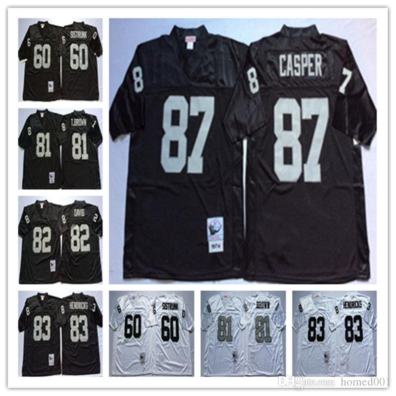 size 40 08ac4 17313 82 AI Davis 87 Dave Casper 60 Otis Sistrunk 83 Ted Hendricks Regression  Black White jerseys Wholesale Mens Stitching jerseys