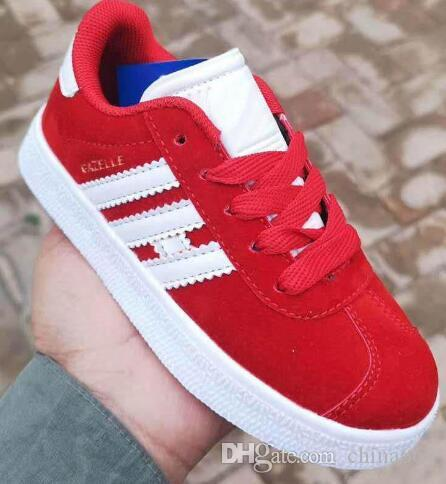 59f2e9194 2019 Unisex kids GAZELLE Classic Casual Flat Shoes Suede Sneakers Outdoor  Lightweight boys girls children Walking Hiking Shoes 25-35