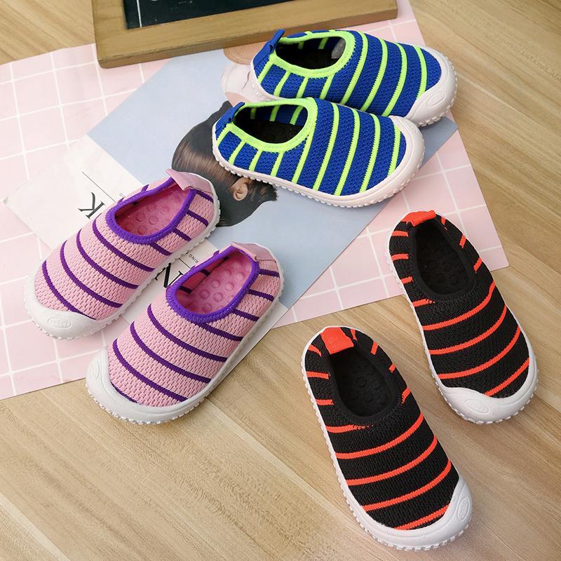 cbfdc92775265 Acheter 2019 Printemps Et Automne De Nouveaux Enfants Paresseux Une Pédale  De Loisirs Chaussures Étudiant Chaussures Pour Garçons Et Filles Maille ...