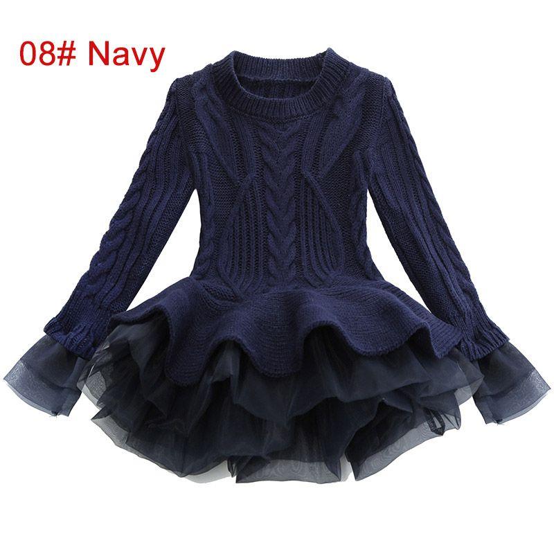 0b037e2dd 2019 3 To 7 Years Girls Winter Fashion Sweater Dresses