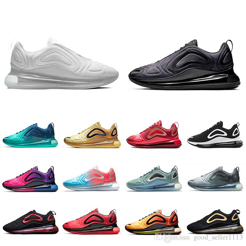 new arrival 33a62 e8bb6 Großhandel NIKE AIR MAX 720 Shoes Metallic Platinum Running Shoes For Men  Women Northern Lights Triple Black Red SUNRISE CARBON GREY DESERT GOLD Mens  ...