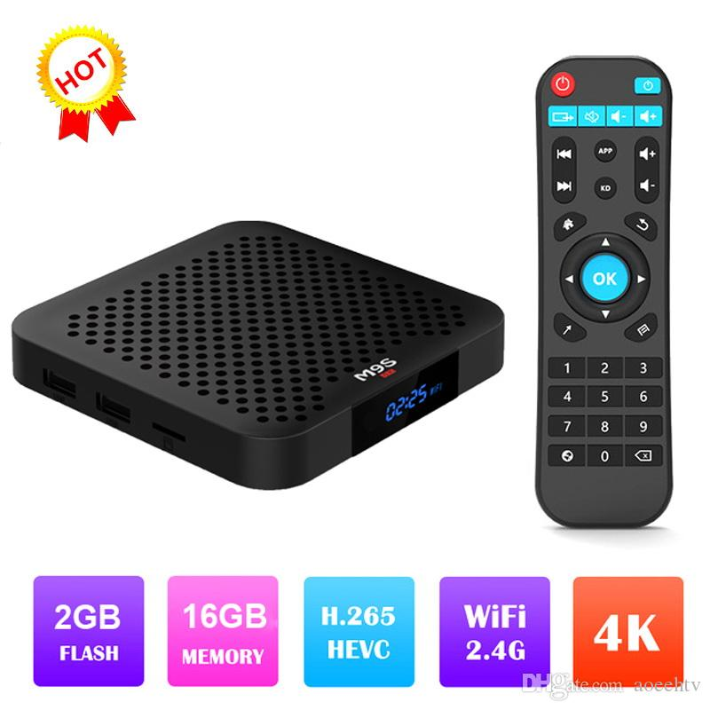 2019 Hot M9S W2 Android 7 1 TV Box Amlogic S905W 2GB 16GB 2 4G wifi 4K IPTV  BOX Better MXQ PRO S8 PRO T95M X96 MINI TX3 H96 TV BOX