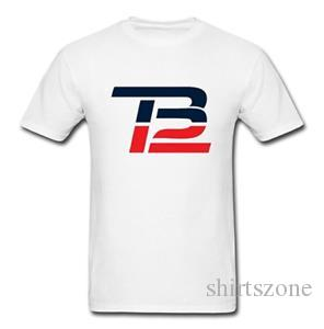 Men's DIY Tb12 Logo Short-SArriveve Tech T-Shirt White