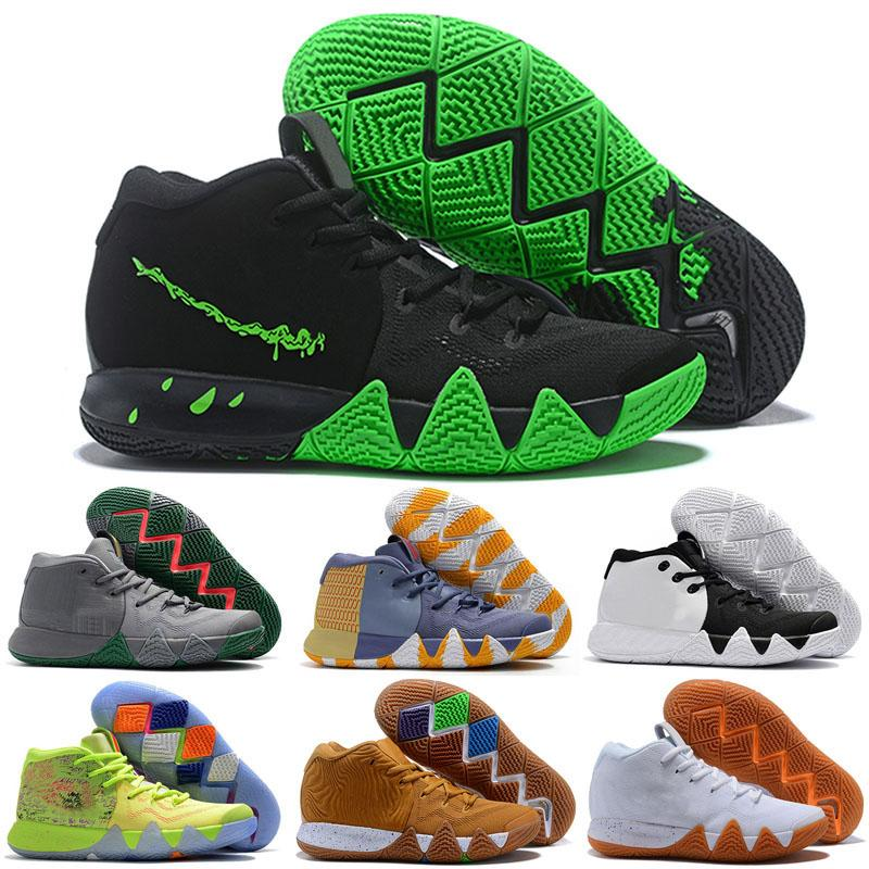 new arrival a43ca cf7a1 4 Kyrie IV Mens Basketball Shoes Irving 4s Confetti All-Star Madness City  Guardians London Mamba Sports Shoes Designer Sneakers Size 40-46