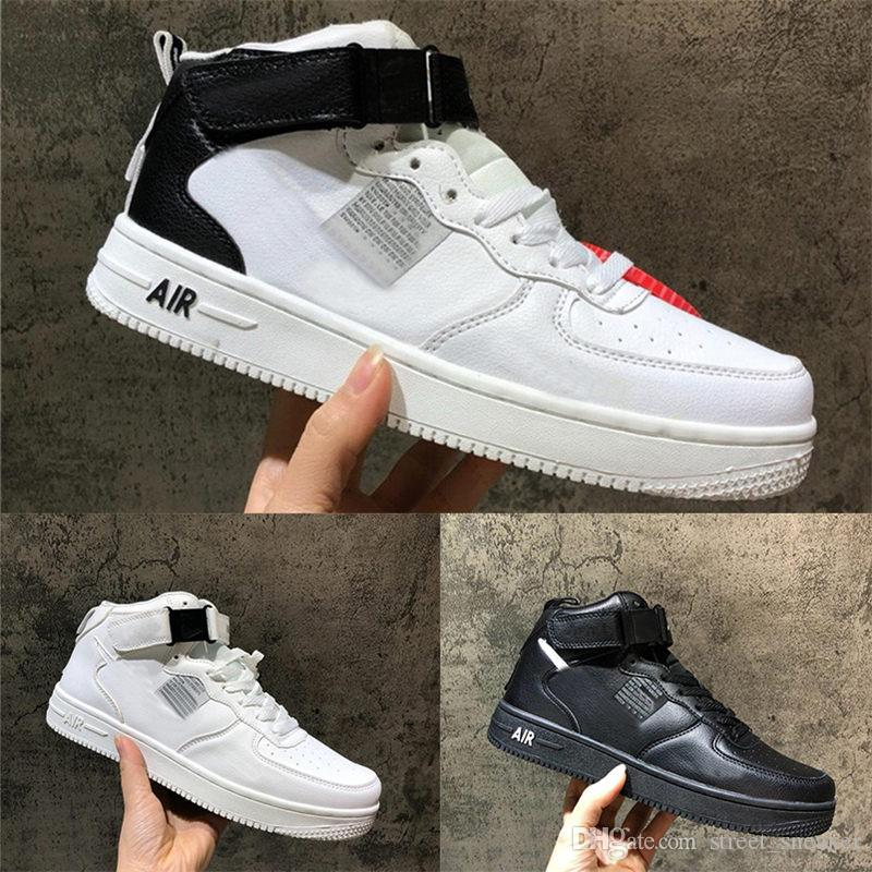 the latest 56011 ca110 Sales 2019 Forces Men Women Shoes All White Black Dunk Forced 1s Sports  Shoes forcing one High Knit Skateboard Sneakers