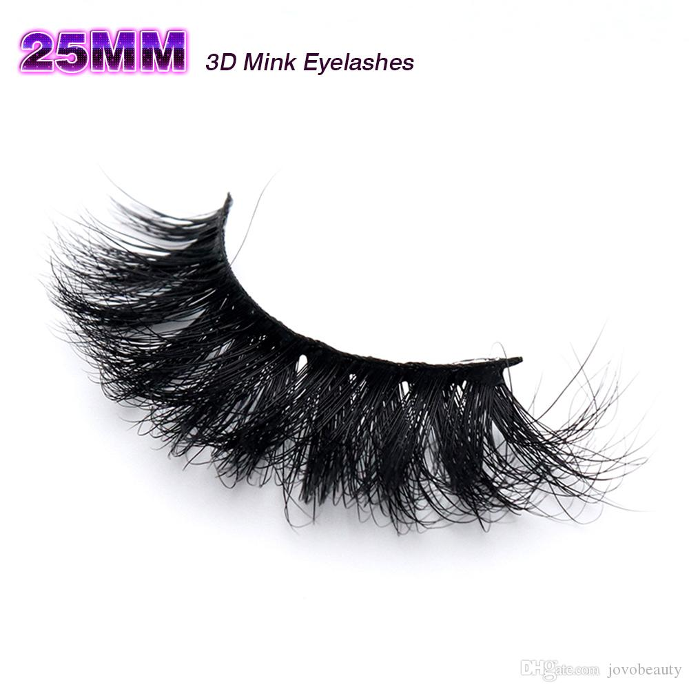 5d00e9f938a JOVOBEAUTY 25MM Handmade Sexy High Quality Soft Natural Thick Long ...