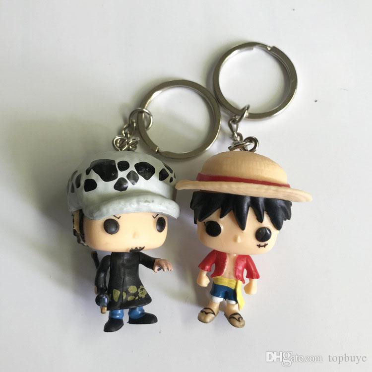 Funko Pocket POP Keychain - One Piece Trafalgar. Law Monkey D. Luffy Vinyl Figure Keyring with Box