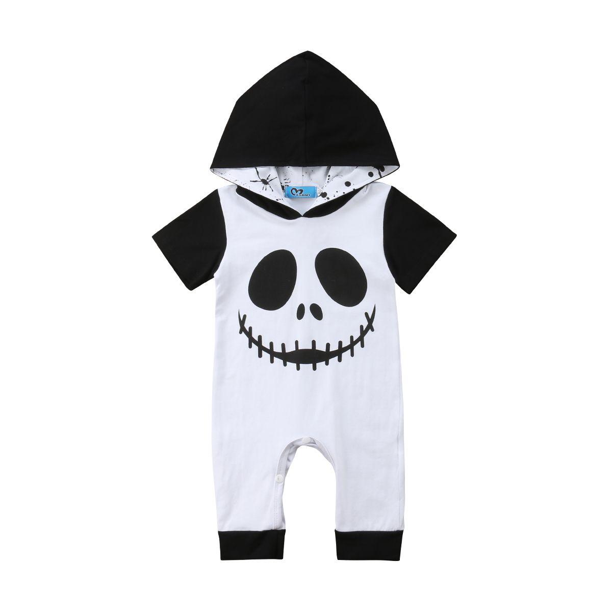 UK Newborn Baby Boy Halloween Imp Clothes Hooded Romper Jumpsuit Bodysuit Outfit