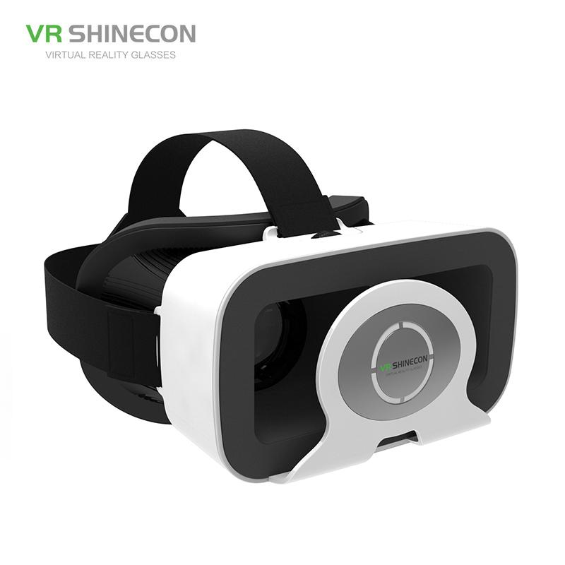 "VR Shinecon Virtual Reality VR Glasses Headset Online 3D Moives Online Games Helmet for iPhone Huawei Android 4.7-6"" Smart Phone"