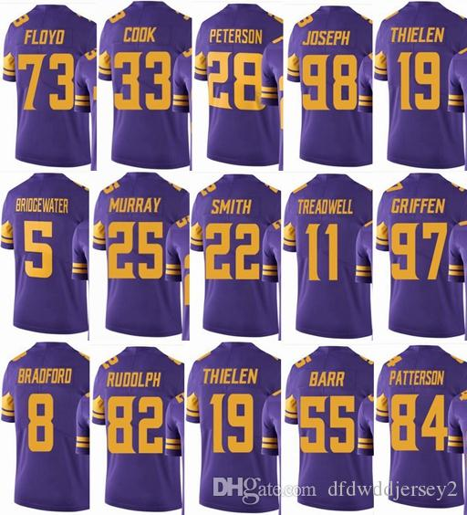 buy online 70dc2 1bb64 VIKING Minnesota #19 Adam Thielen #22 Harrison Smith #33 Dalvin Cook #14  Stefon Diggs Men Women Youth Color Rush Elite Football Jerseys