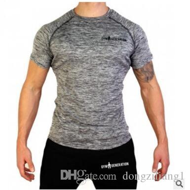 Fashion Men T Shirts Summer Sports Running Top Tees Mens Clothing Short Sleeve Casual O Neck Fitness Tshirt Sportwear