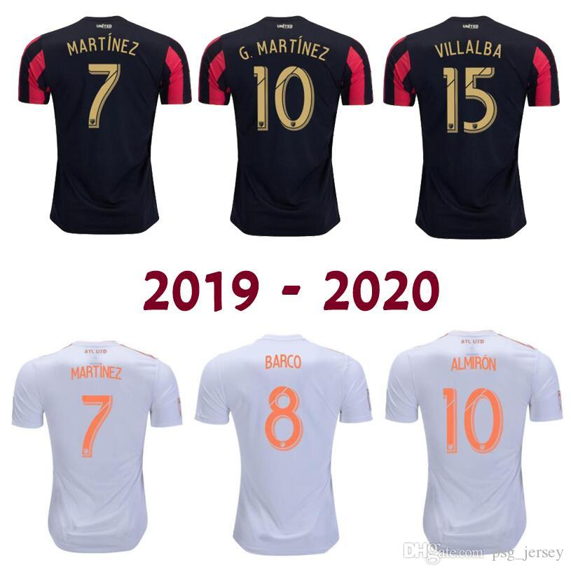 sale retailer 605af 517be New 2020 Atlanta United soccer jersey 2019 GARZA JONES VILLALBA MCCANN  MARTINEZ ALMIRON FC Atlanta away football shirt