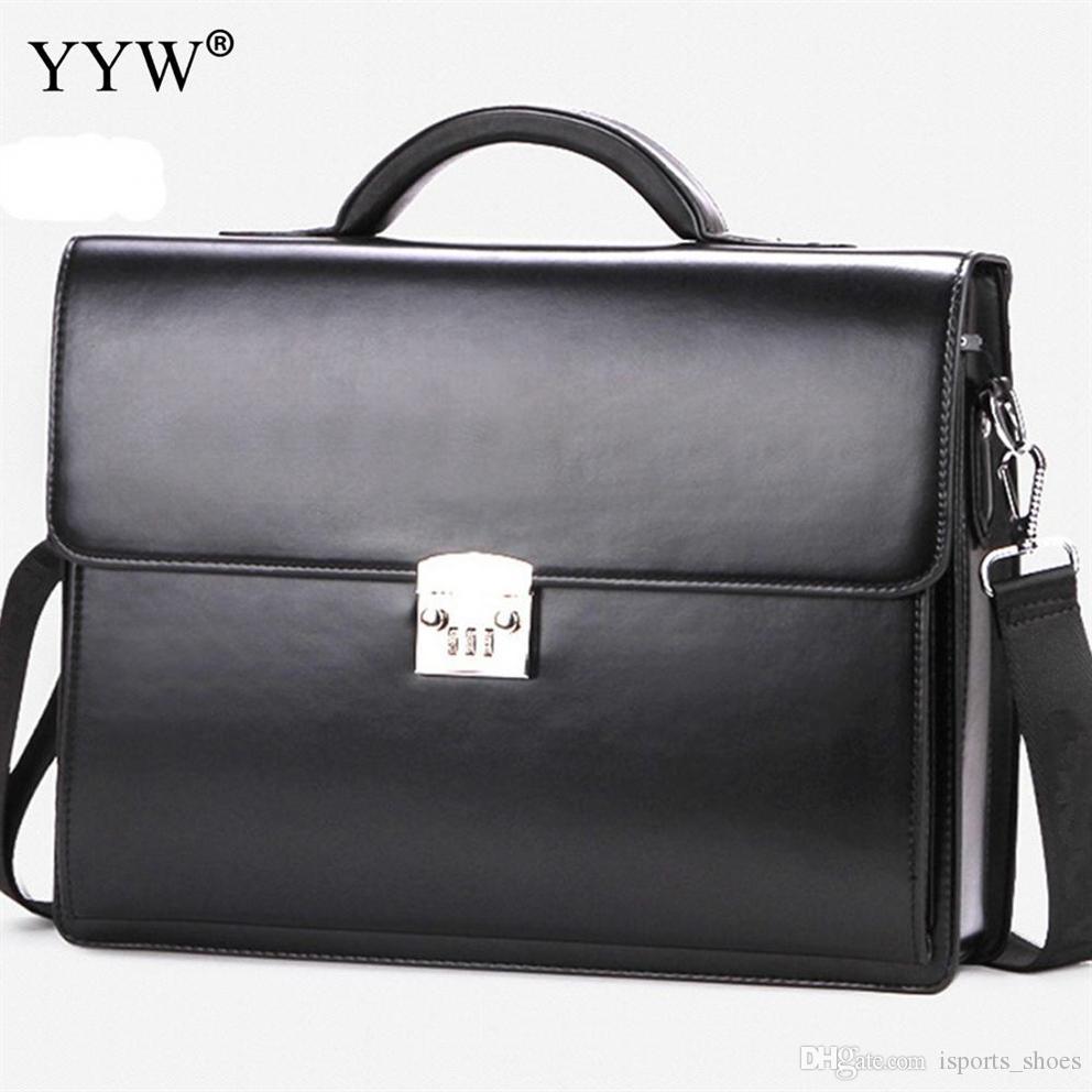 15994a197 Compre Business Male Bag Homens Maleta Executiva Carteira Preta Bolsas Para  Homens Couro Sintético Bolsa Um Caso Para Documentos # 110626 De  Isports_shoes, ...