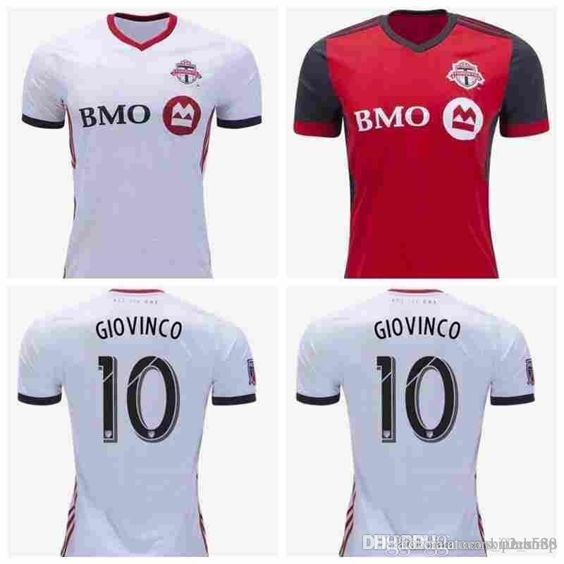 sale retailer aab11 9530d Toronto Fc Home Soccer Jersey 18/19 #10 Giovinco Red Soccer Shirt  Customized Osorio Al Tidore Mls Football Uniform Sales