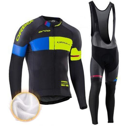 Orbea Cycling Jerseys Ciclismo Set Invierno Thermal Fleece Mangas largas Racing Mtb Suit Maillot Ropa para ciclismo Ropa Ciclismo Ropa deportiva