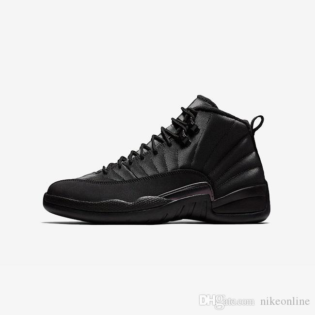 0ae95189cf5a52 2019 Cheap Retro 12s Basketball Shoes J12 Triple Black Nylon Wool Bred Red  White French Blue Wings Youth Kids Jumpman Xii Sneakers Boots With Box From  ...