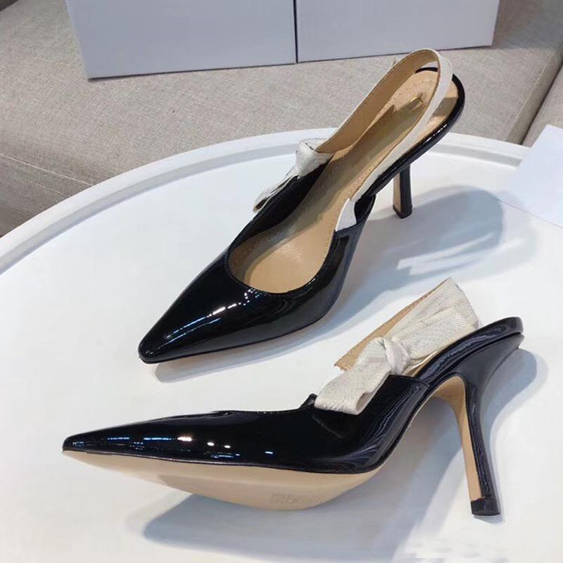 Moda sexy Sandalias de tacón alto Sandalias de cuero de gladiador Diseñador de lujo Tacón fino Zapatos de tacón alto 10cm Zapatos de mujer de gran tamaño 42