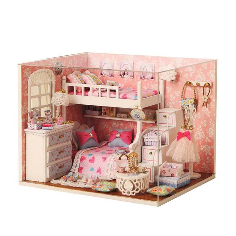 Dream Angel Doll House Toy Handmade House Model Dollhouse Wooden