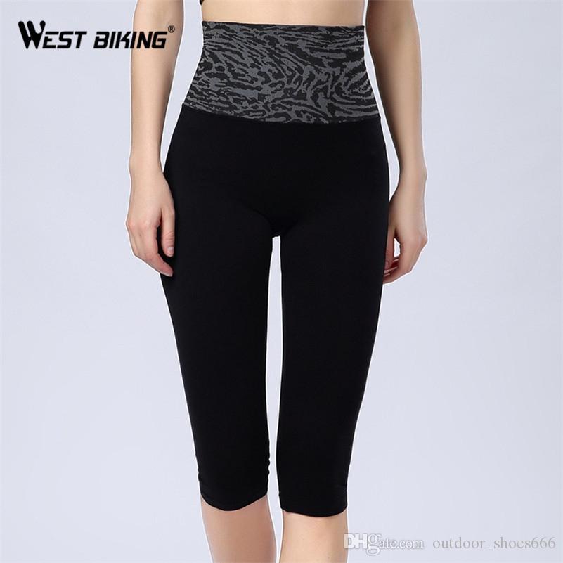 abeab74bf WEST BIKING Mujeres Pantalones Cortos de Yoga Marca de Cintura Alta Slim  Bodycon Estirada Deportes Al Aire Libre de Fitness Femenino Tight Running  ...