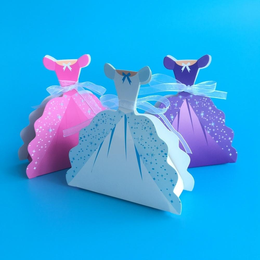 Princess Baptism Candy Box Baby Shower Favor Boxes And Bags Small Gift Boxes For Party Favors Paper Packaging Box Regalo Bimbi T190709