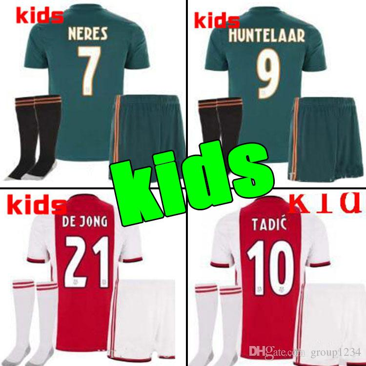 3188537a9 2019 2019 2020 Ajax FC Soccer Jerseys Home Kids Kits Away 19/20 Customized #7  NERES # 10 TADIC #4 DE LIGT #22 ZIYECH Football Shirt From Group1234, ...