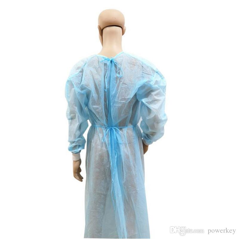 Non-woven Protection Gown Disposable Protective Isolation Clothing Dustproof Coverall For Women Men Anti-fog Anti-particle Isolation Suit