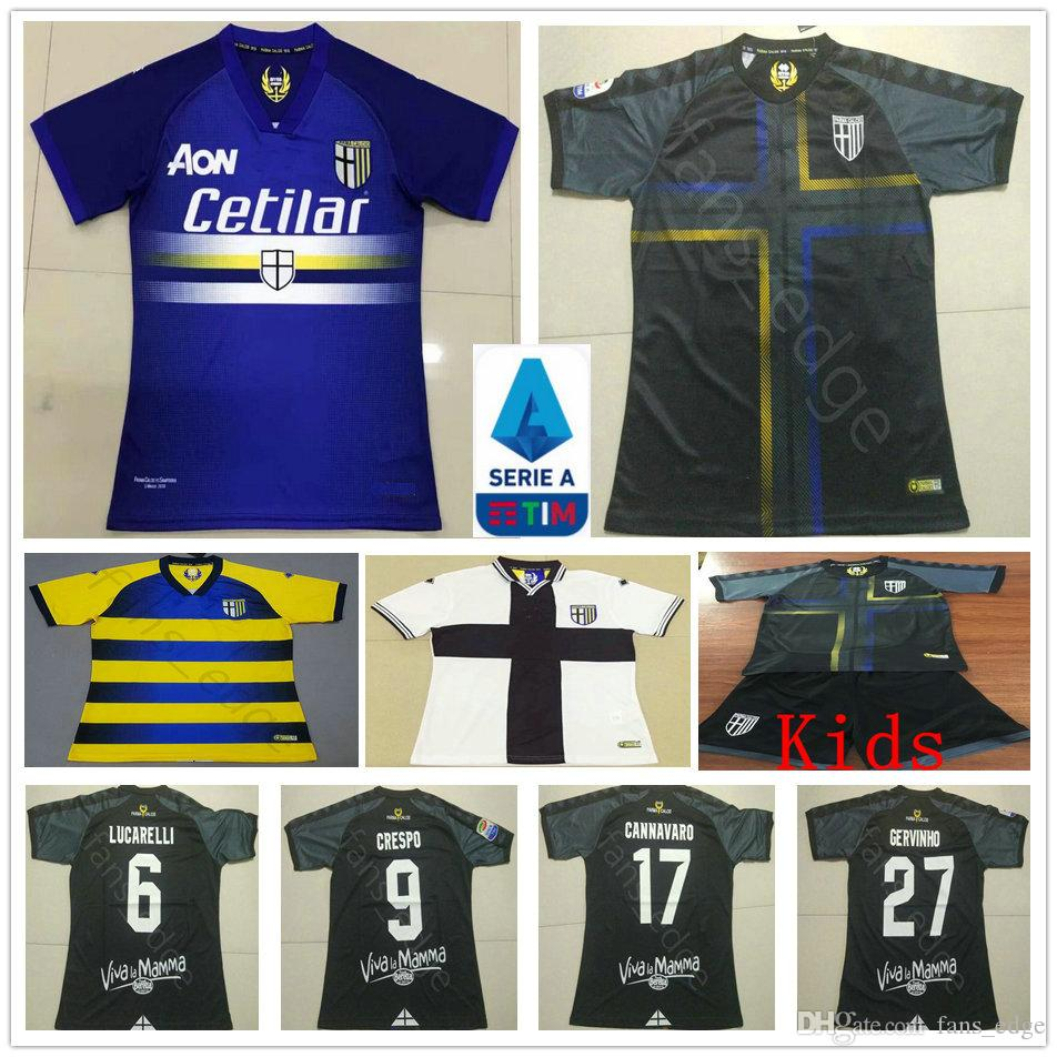 19c6238a7d4 2019 2019 Parma Calcio 1913 Soccer Jerseys CICIRETTI CERAVOLO GERVINHO  CRESPO CANNAVARO Custom Home Away 2020 Adult Kids Youth Football Shirt From  Fans_edge ...