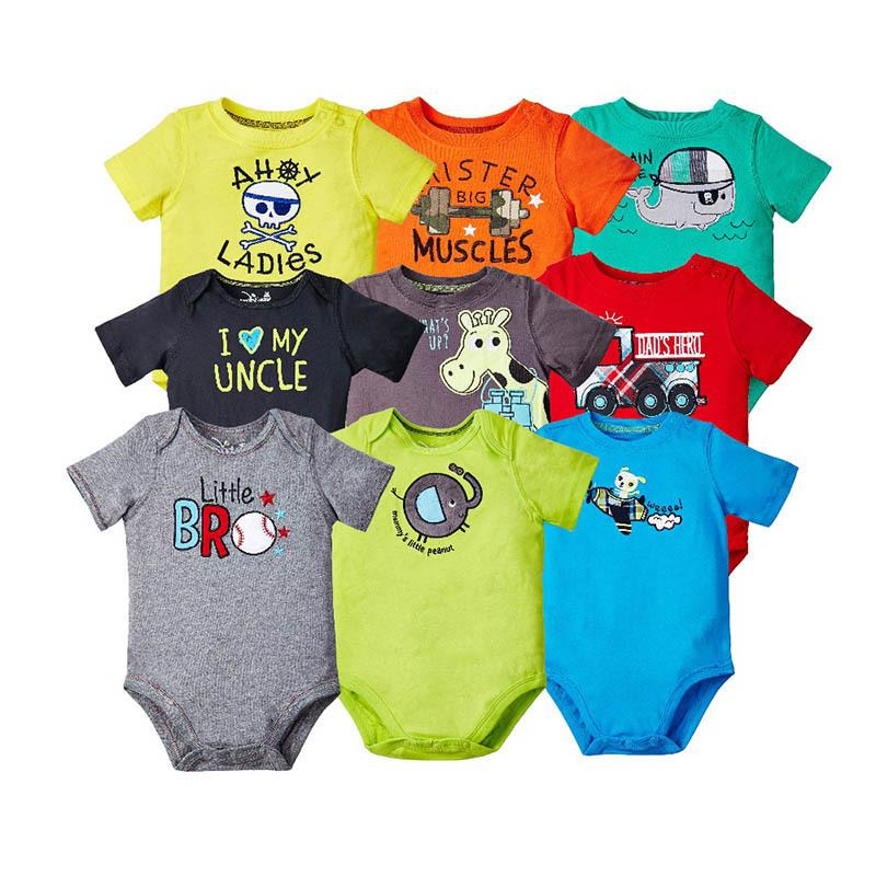 f5fd1a9a9a85 2019 Baby Clothes Babyborn 100% Cotton Romper Set Summer Cartoon ...