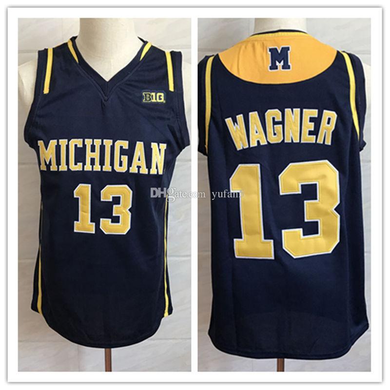 86a38c45f Compre   13 Moritz Wagner Michigan Wolverines College Retro Clássico Basketball  Jersey Mens Costurado Número Personalizado E Nome Jerseys De Yufan5