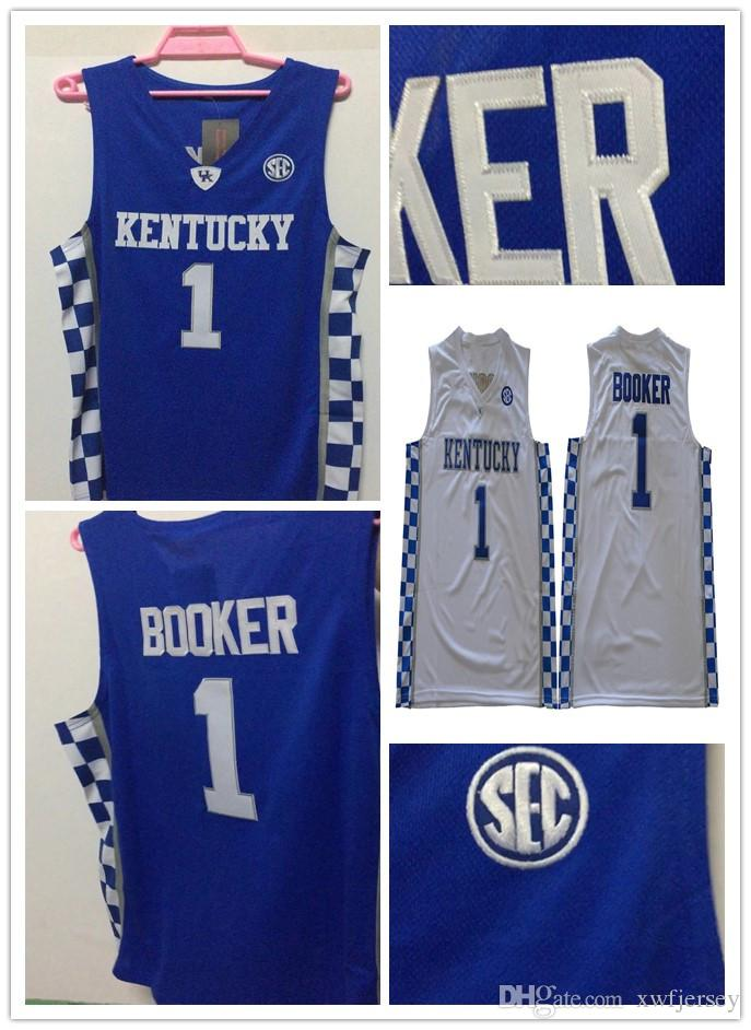 c13863e2624 2019 Hot Sale Kentucky Wildcats Jersey College  1 Booker Basketball Jersey  Devin Shirt Full Stitched PHYSICAL STOCK PHOTO From Xwfjersey