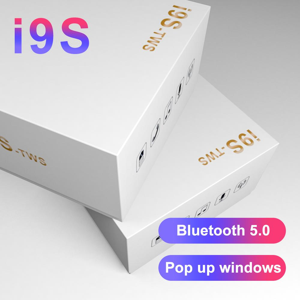 Collegamento pop out i9s TWS Dual Earphone Auricolare Bluetooth 5.0 Auricolari wireless con vivavoce Musica stereo con scatola di ricarica TWS Bestsin