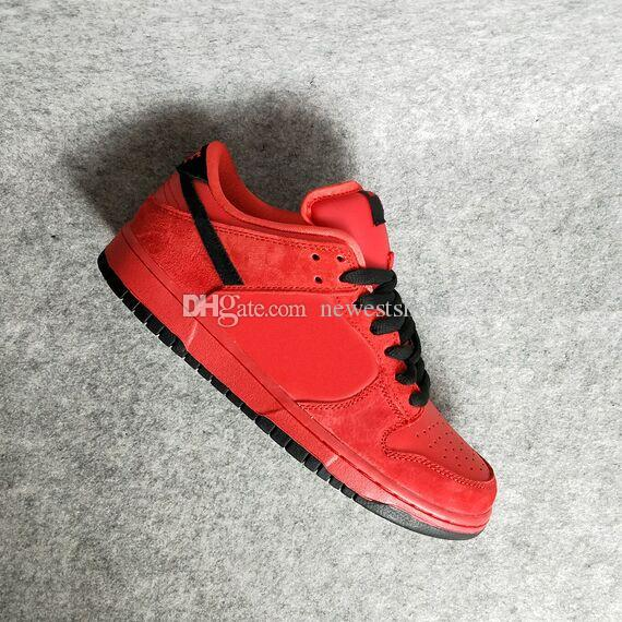 best authentic 577a2 7b533 Dunk SB Low Low Pro SB Vamps True Red Black 304292 601 Mens Women Running  Shoes Diamon What The Dunk Paris Sports Sneakers Running Shoes Men From ...