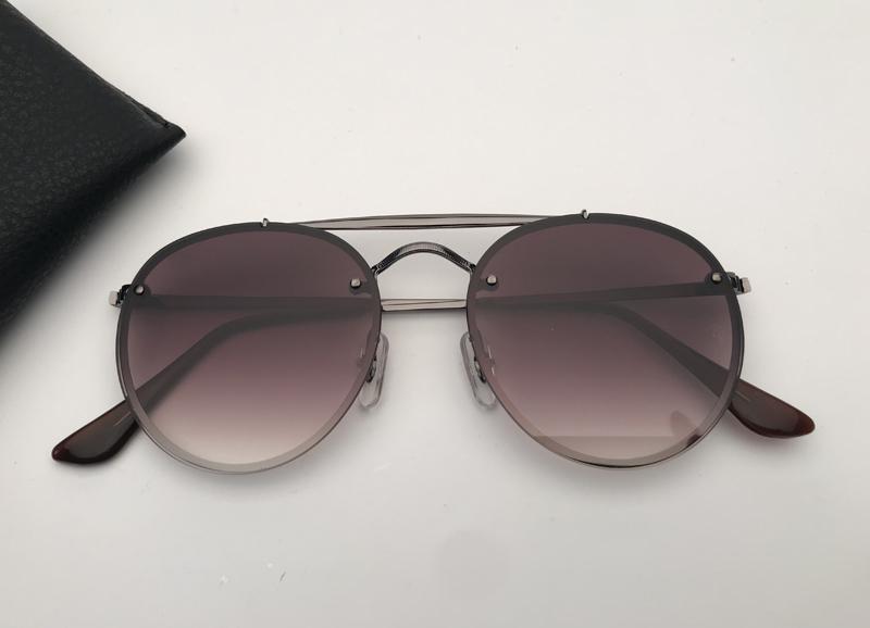 Diseñador Gafas de sol Hombres Mujer Gafas de sol Doble Bridge Blaze Sun Glasses de Soleil con estuche de cuero negro o marrón, ¡y todos los accesorios!