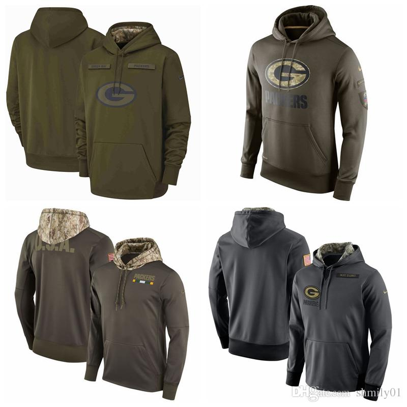 Men S Green Bay Men Packers Jersey Fashion Movement Olive Salute To