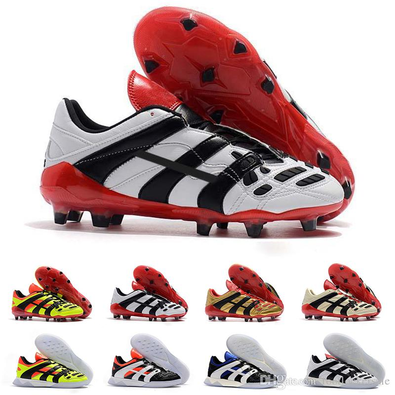 88796b61362 2019 2019 Top Predator Men Football Boots Dream White 98 Accelerator  Champagne FG IC Soccer Shoes Designer Sneakers Cleats Trainers Size 39 45  From ...