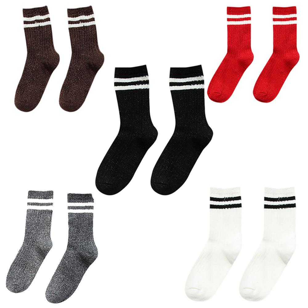 Clothing Shoes & Accessories Stock 5 Pair Women Sock Autumn And Winter Thickening Trend Solid Warm Socks 2018 Nov14