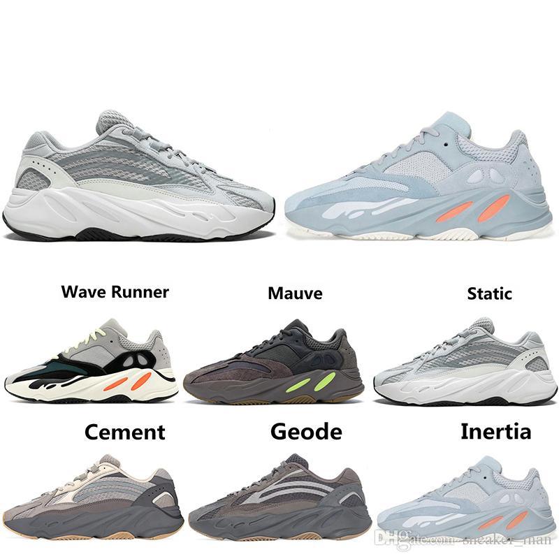 best sneakers ffb6c 8e79d Adidas YEEZY Boost 700 2019 700 Wave Runner Mauve Inertia Geode Triple с  черными кроссовками Мужчины Женщины West 700 v2 Дизайнерская обувь  Спортивные ...