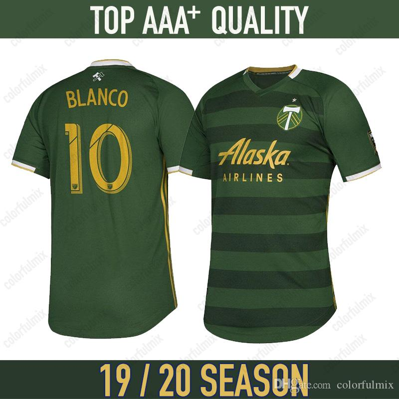 best authentic d0c5d 257e3 19 20 MLS Men Portland Timbers soccer jerseys home 2019 2020 BLANCO CHARA  VALENTIN VALERI MEN jersey portland timbers football jersey Shirts