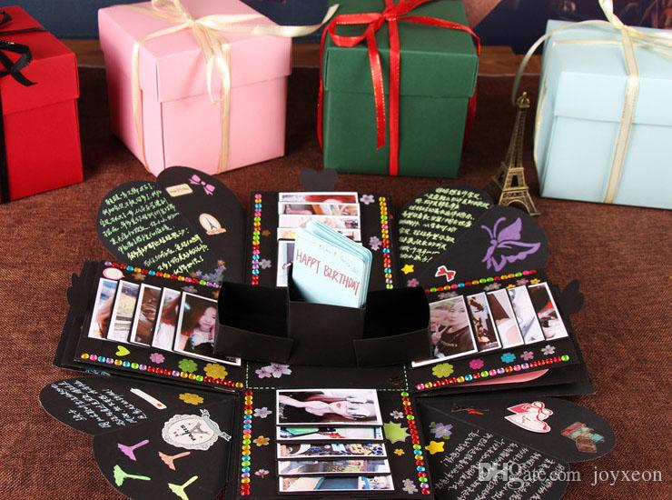 DIY Surprise Love Explosion Box Gift For Anniversary Scrapbook Photo Album Birthday Wrap Finished JWX9 1076 Wrapped Presents