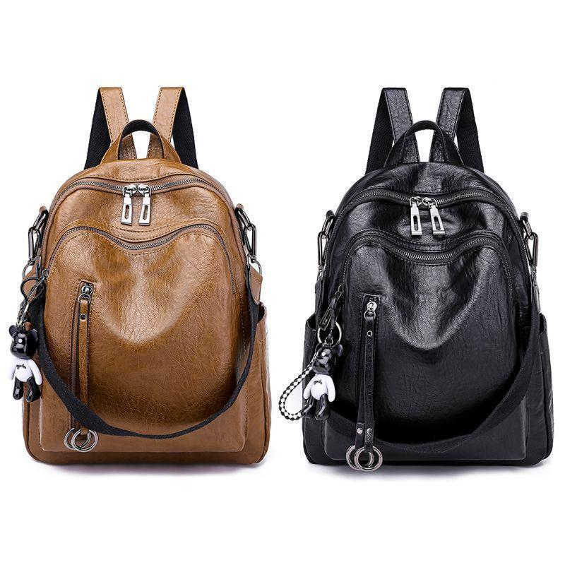 377747403c1 Sexy2019 Ladies Pop Backpack Purse School Pu Leather Purses Girls Student  Multifunction Shoulder Bags Rucksack Daypack Bookbag