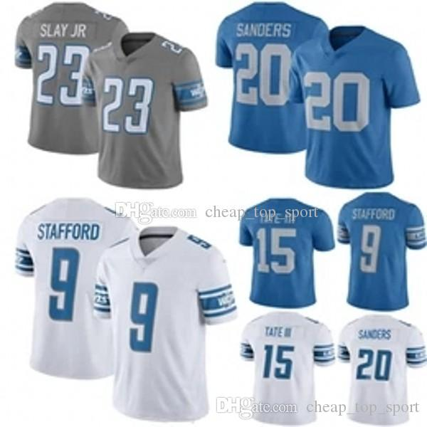 the latest ed22e 13ba9 9 Matthew Stafford Detroit Jersey Lion 23 Darius Slay JR 20 Barry Sanders  15 Golden Tate III Jerseys Color Rush 100% Stitched Top quality