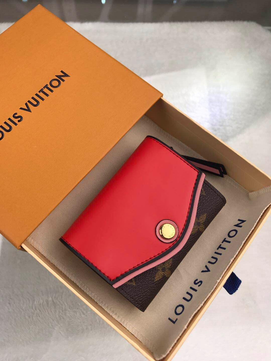 Classic best wallet with box women brand Genuine Leather square wallet leather purse women Money card holder M63904 10-8-3