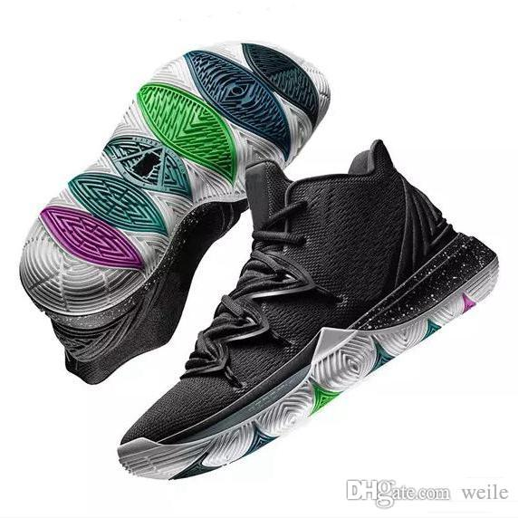 super popular b3923 3ecb3 2019 New Kyrie 5 Black Magic Basketball Shoes A02918-901 LIMITED For Sale  Kyrie Irving 5s Mens Trainers Sneakers Chaussures Zapatillas 7-12