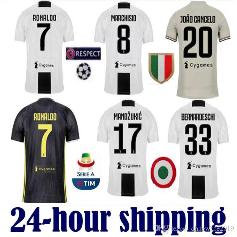22578bd4e13 Thailand RONALDO Juventus 2019 Champion League Soccer Jerseys DYBALA ...