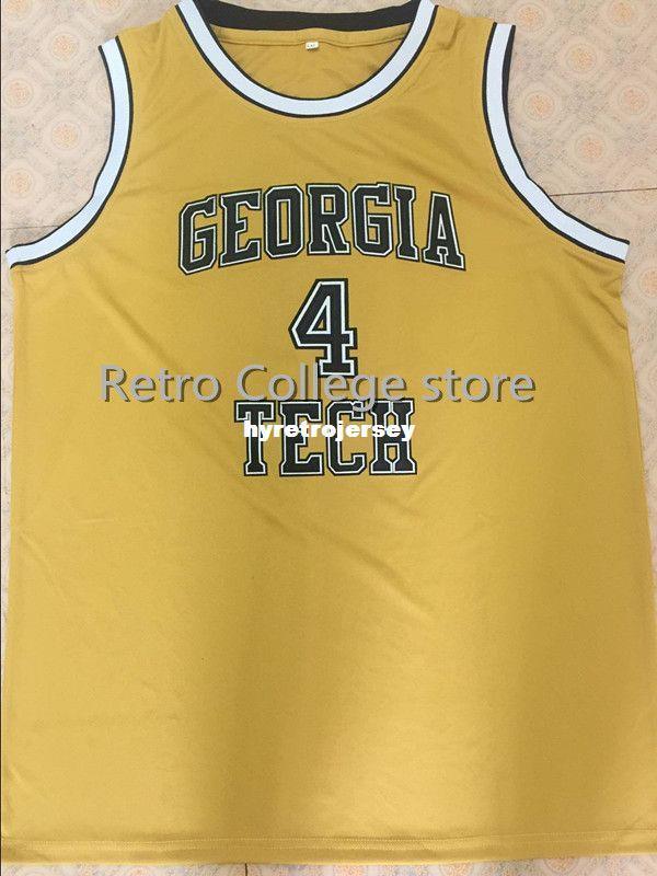 acdd50b53e1 2019  4 Chris Bosh Jersey XXS 6XL College Basketball Jerseys White Georgia  Tech Yellow Bosh Top Basketball Jersey XS 6XL Vest Jerseys From  Hyretrojersey