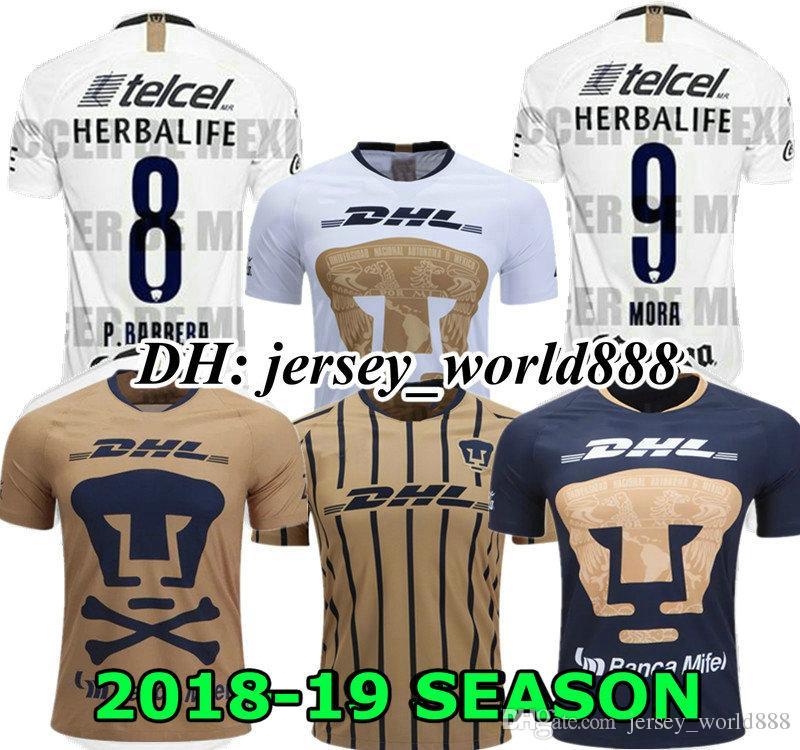 68417a2c44e 2019 FORMICA ABRAHAM 19 20 UNAM Pumasl White Home Soccer Jersey Away Blue  Mexico Camisetas De Futbol Cougar Football Cortes 2019 Martinez Shirt From  ...